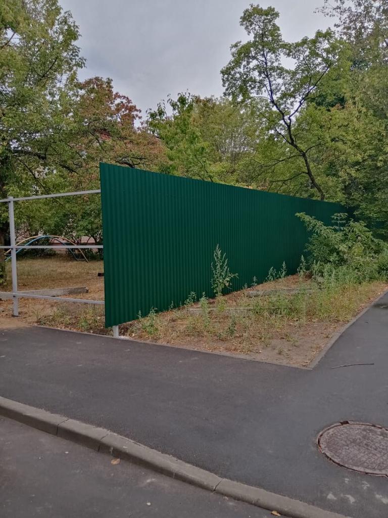 Забор из проф.листа